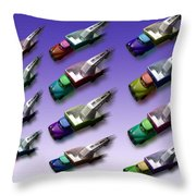 Truck Meet Throw Pillow