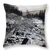 Truckee River - California - C 1865 Throw Pillow