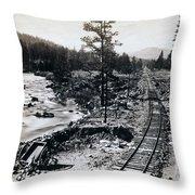 Truckee River - California Looking Toward Donner Lake - C 1865 Throw Pillow