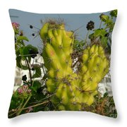 True Beauty Has Thorns Throw Pillow