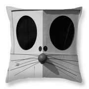 Truly Nolen Rat In Black And White Throw Pillow by Rob Hans