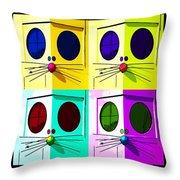 Truly Nolen Rat In Quad Colors Throw Pillow