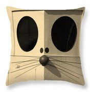 Truly Nolen Rat In Sepia Throw Pillow