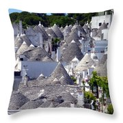 Truly Whimsical Trulli Throw Pillow