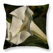 Trumpet Flower Throw Pillow