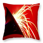 Trumpet Shooting Sparks Throw Pillow