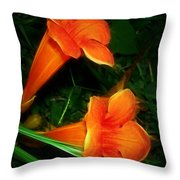 Trumpet Twins Throw Pillow