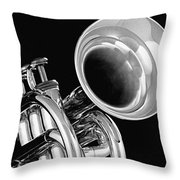Trumpet Up Front Throw Pillow
