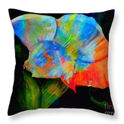 Trumpet With Watercolor Overlay Throw Pillow