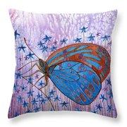 Trust Butterfly Throw Pillow