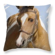 Trusted Steed Throw Pillow