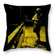 Trying For A Trout Throw Pillow