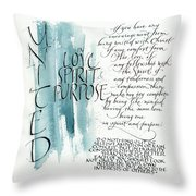 Tryptic Panel 1 - United Throw Pillow