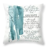 Tryptic Panel 3 - Exalted Throw Pillow