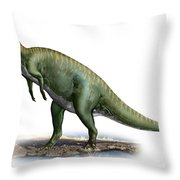 Tsintaosaurus Spinorhinus Throw Pillow