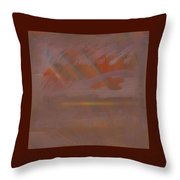Tsunami Morning  Throw Pillow