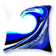 Tsunami Swell Throw Pillow
