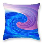 Tsunami Vi Throw Pillow by Kenneth Armand Johnson
