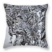 Tuareg Dance Throw Pillow