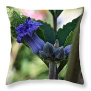 Tube Clematis Throw Pillow