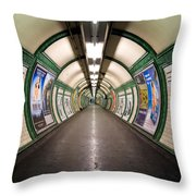 Tube Tunnel Throw Pillow
