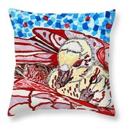 Tucked In Mom No.3 Throw Pillow