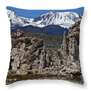 Tufa At Mono Lake California Throw Pillow