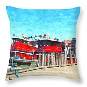 Tugboat Twc Throw Pillow