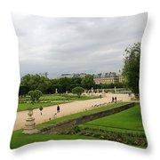 Tuileries Gardens 4 Throw Pillow