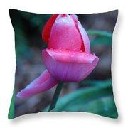 Tulip After The Rain Throw Pillow