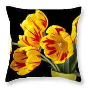 Tulip Bouquet  Throw Pillow