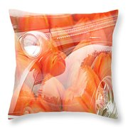 Tulip Car Abstract Throw Pillow