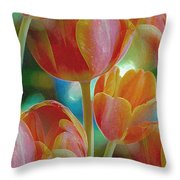 Tulip Fascination Throw Pillow