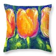 Tulip Gold Throw Pillow