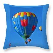 Tulip Hot Air Balloon Throw Pillow