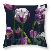 Tulip Springtime Memories Throw Pillow
