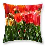 Tulip Uprising Throw Pillow