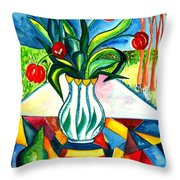 Tulips And A Pear Throw Pillow