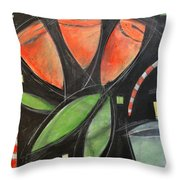 Tulips And Water Glass Throw Pillow