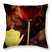 Tulips At Dusk Throw Pillow