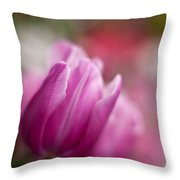 Tulips Impression Throw Pillow
