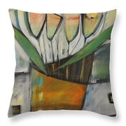 Tulips In Terracotta Throw Pillow