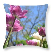 Tulips In The Sun Throw Pillow