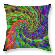 Tumbling Down The Rainbow Highway Throw Pillow