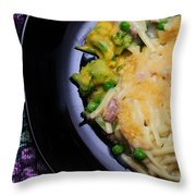 Tuna Noodle Casserole Throw Pillow by Andee Design