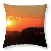 Tundra Sunset Throw Pillow
