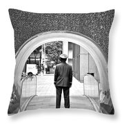 Tunnel Man Throw Pillow