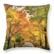 Tunnel Of Color Throw Pillow