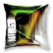 Tunnel Of Colour Throw Pillow