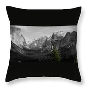 Tunnel View Selective Color Throw Pillow
